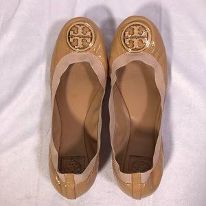 Tory Burch Caroline Patent Leather Ballet Flats